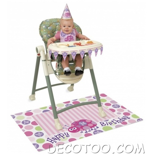 1 kit d co anniversaire b b rose happy 1st birthday. Black Bedroom Furniture Sets. Home Design Ideas
