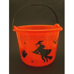 1 seau à bonbons hallowen - Orange