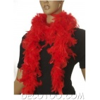 1 boa plumes 1.80 m rouge