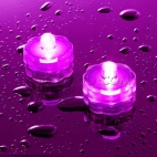 1 bougie LED submersible pourpre