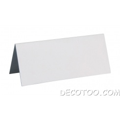 10 marques place rectangle carton blanc