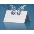 10 marques place papillons accroches verre - Blanc