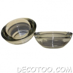 1 bougeoir verre rond transparent + 1 bougie offerte !