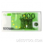 10 serviettes de table billet de 100 €