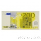10 serviettes de table billet de 200 €