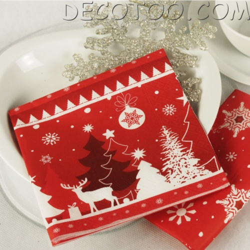 Serviette de table noel id es de conception sont int ressants votre d cor for Pliage serviettes papier noel