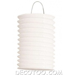 1 lampion cylindrique blanc