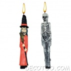2 grandes bougies Halloween assorties