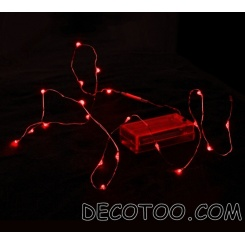 1 guirlande de table à leds rouges