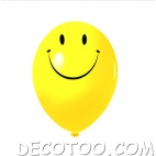 10 gros ballons smiley happy face