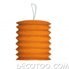 1 grand lampion cylindrique orange