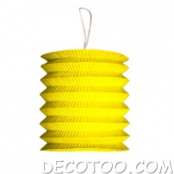 1 grand lampion cylindrique jaune