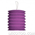 1 grand lampion cylindrique violet