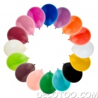 50 ballons assortiment multicolor
