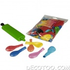 100 ballons assortiment multicolor + 1 pompe offerte