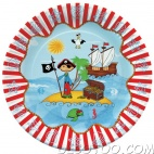 10 assiettes carton Pirate